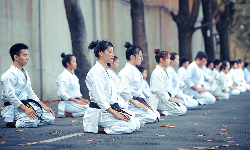 Karate Begrüßungszeremonie