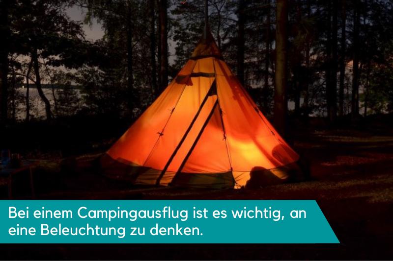Leuchtendes Camping Tipi Zelt