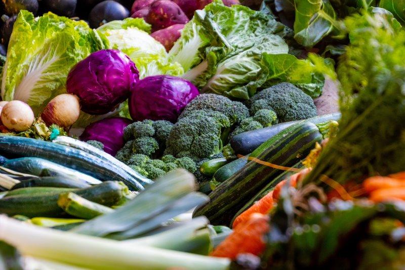 Viel Obst und Gemüse mit vielen Nährstoffen für das ideale Training