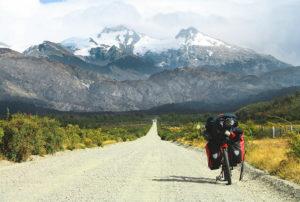 Fahrradtour in den Bergen mi