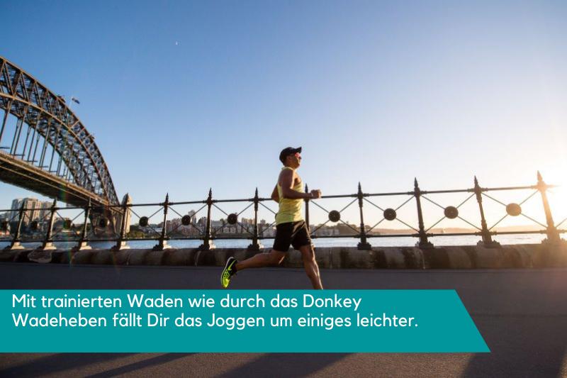 Mehr Ausdauer durch Donkey Wadenheben