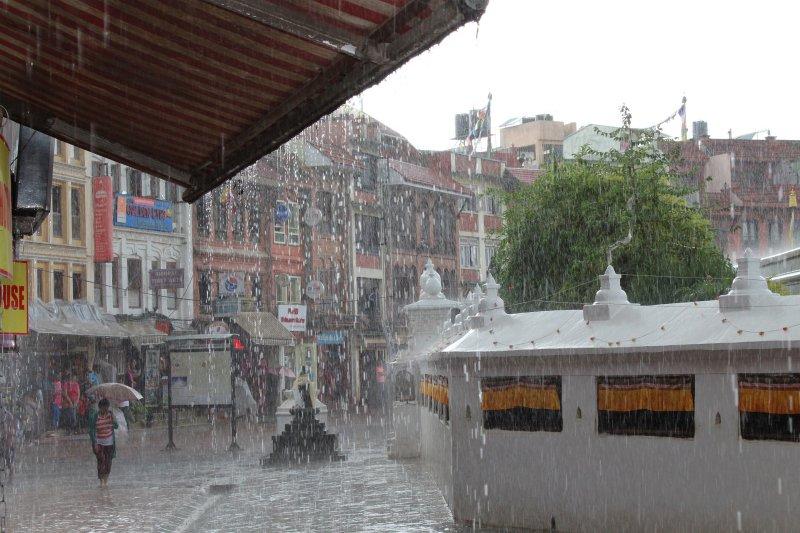 Monsun in einer Gegend in Nepal