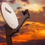 Satellitenschüssel um TV-Programme zu empfangen