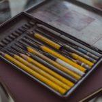 Bleistifte in einer Aufbewahrungsbox
