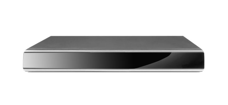 Schwarzer DVD Player