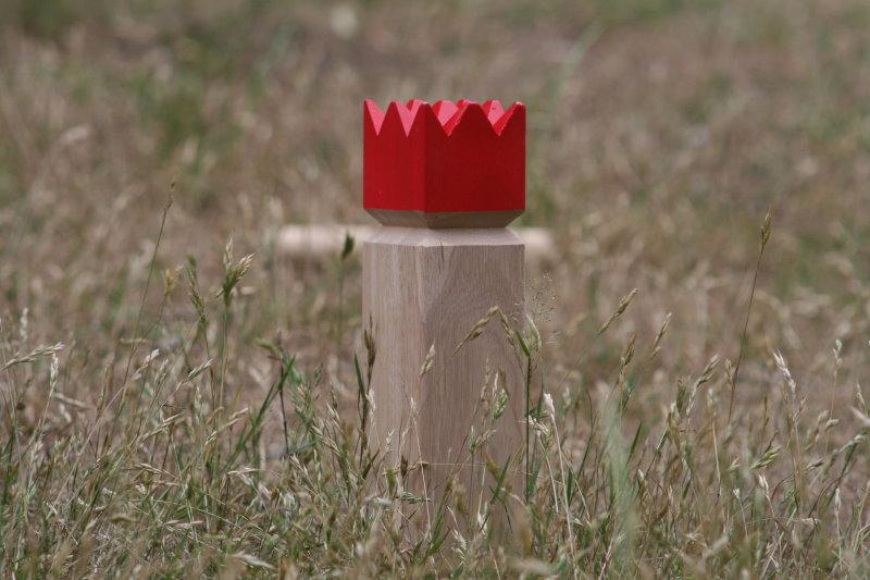 Wikingerschach mit dem König Geschicklichkeitsspiel