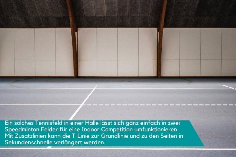 Tennishalle von innen