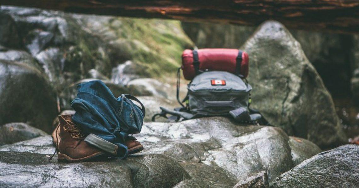 Hüttenschlafsack, Gepäck für die Übernachtung auf der Hütte