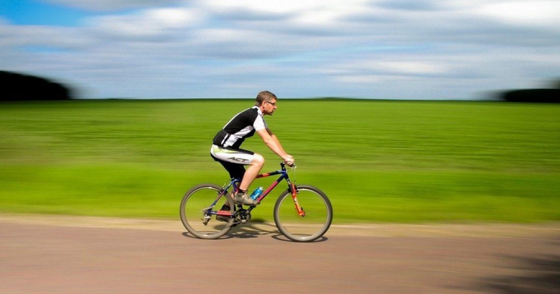 Fahrradfahrer mit Fahrradhose