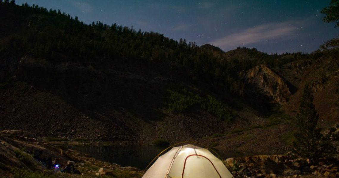 Campingausflug mit Zelt Test