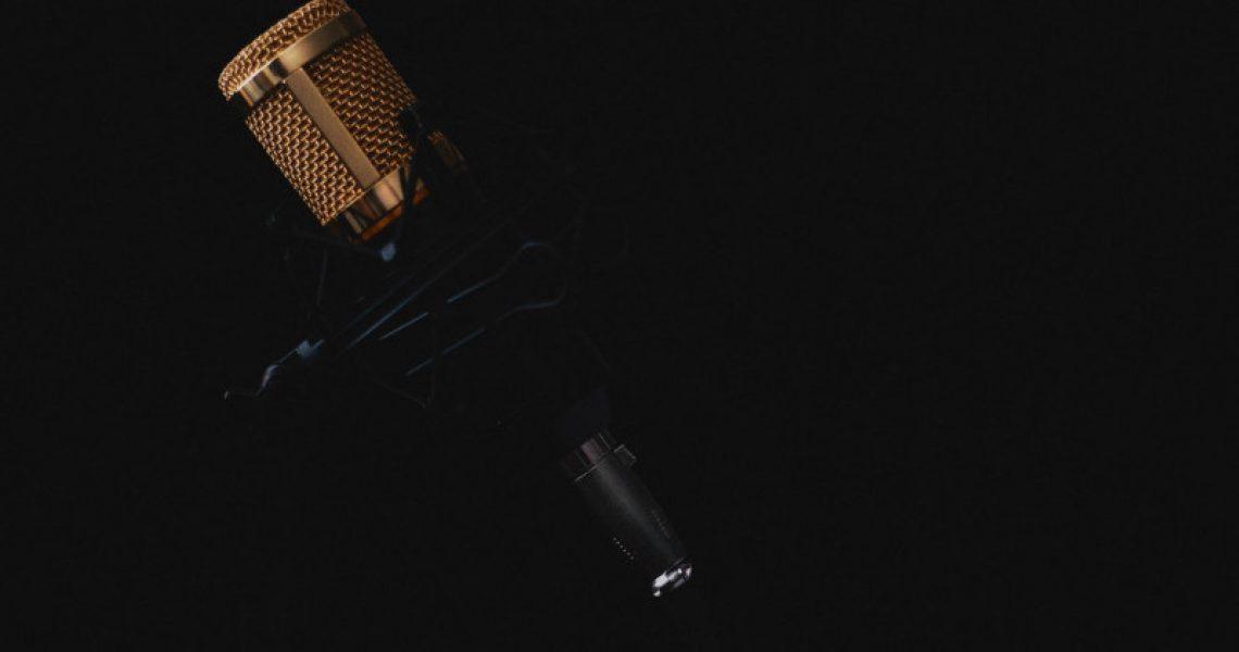 Stereo-Mikrofon in Gold